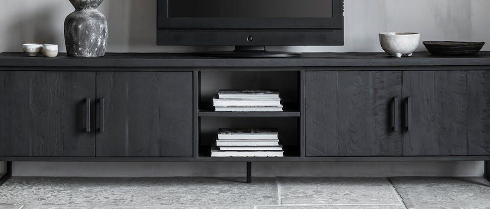 zwarte tv-meubels