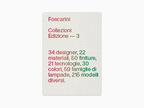 Foscarini catalogus 2020