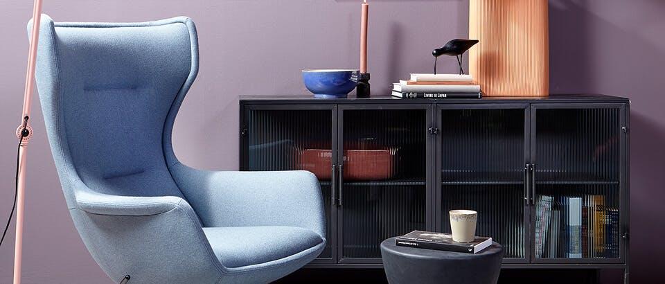 blauwe fauteuils Eijerkamp