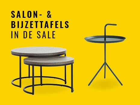 SALE salon- & bijzettafels