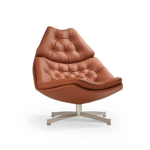 cognac fauteuils Eijerkamp