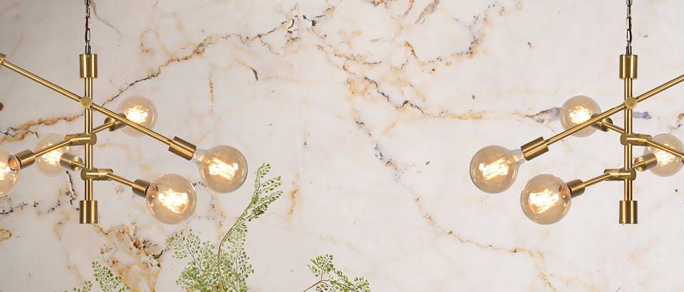 Hanglampen goud Eijerkamp