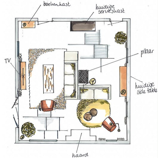 grote woonkamer indeling Eijerkamp
